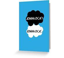 Johnlock - TFIOS Greeting Card