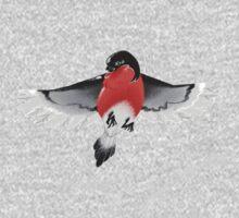 Bullfinch bird One Piece - Long Sleeve