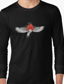 Bullfinch bird Long Sleeve T-Shirt