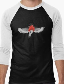 Bullfinch bird Men's Baseball ¾ T-Shirt