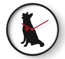 German Shepherd Silhouette Clock
