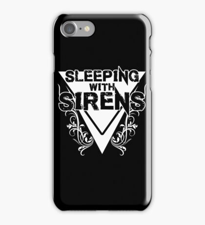 Sleeping with Sirens Floral - Dark iPhone Case/Skin