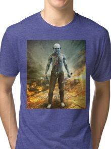 Crazy Scary Monster Apocalyptic Scene Tri-blend T-Shirt