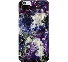 Flair purple black and white abstract painting iPhone Case/Skin