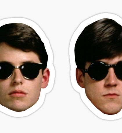 Ferris Bueller - Ferris and Cameron Face Stickers Sticker