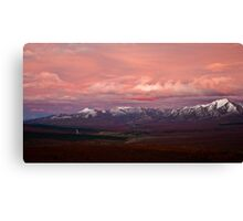 Sunset over Alaska Range Canvas Print