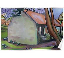 Mossy Cottage Poster