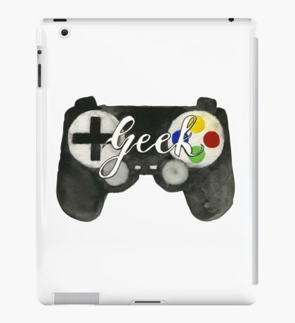Hand Painted Watercolor Geek Game Controller iPad Case/Skin