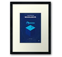 No323 My MULHOLLAND DRIVE minimal movie poster Framed Print