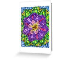 Floral Puzzle Mandala Greeting Card