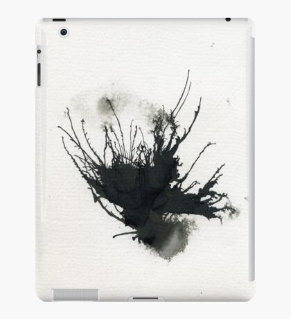 Organic Black abstract  iPad Case/Skin