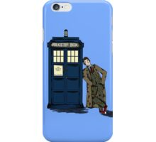 Tenth doctor and the TARDIS iPhone Case/Skin