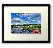 Kayaking in the Springs Framed Print