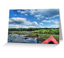 Kayaking in the Springs Greeting Card