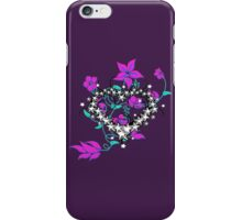 Chinese Heart and Floral Swirls iPhone Case/Skin
