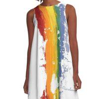 Pride Parade Rainbow Diversity by RD RIccoboni A-Line Dress