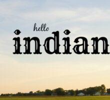 Hello Indiana Sticker