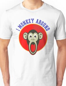 Cute Funny Brown Monkey Around Meme t-Shirts Unisex T-Shirt