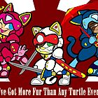 Samurai Pizza Cats by LillyKitten