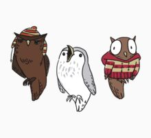 Owl Friends Who Don't Let Each Other Down by carowhine