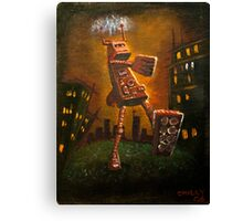 robot sunset Canvas Print