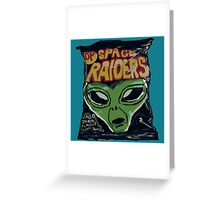 10p Crisps - Space Raiders Greeting Card