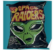 10p Crisps - Space Raiders Poster