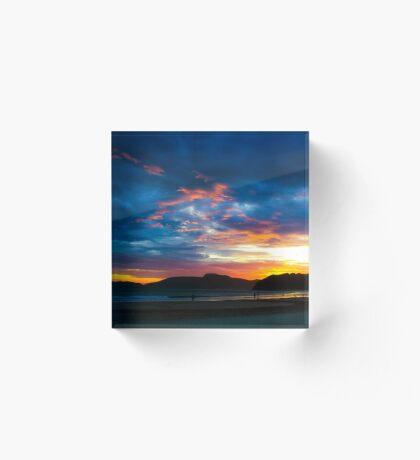 Beach Sunset  Acrylic Block