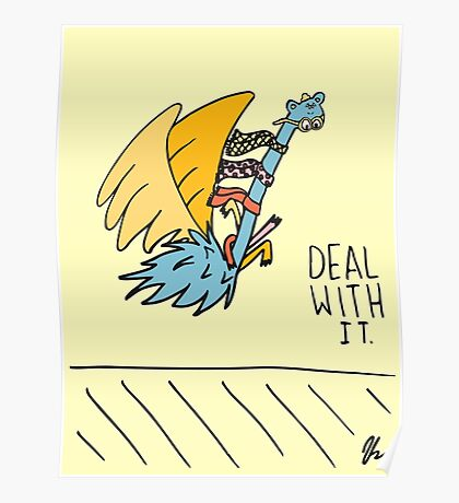 Deal With It Illustration Poster