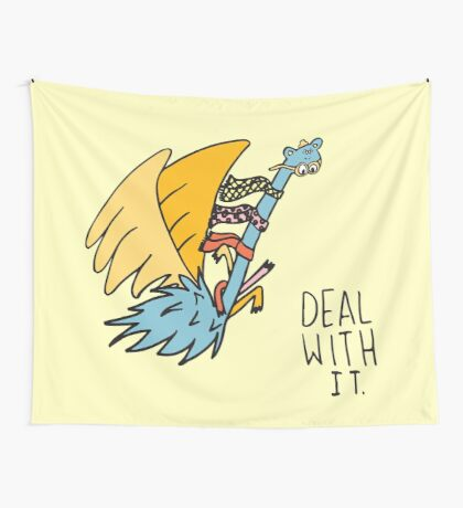Deal With It Illustration Wall Tapestry