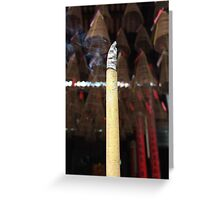 Slow burn of incense Greeting Card