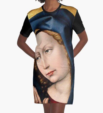 Praying Virgin Graphic T-Shirt Dress