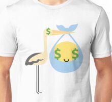 Stork with Baby Emoticon Emoji Money Face Unisex T-Shirt