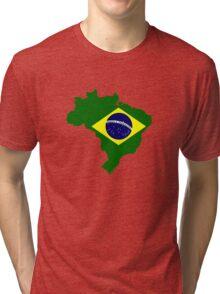 Map of Brazil Tri-blend T-Shirt