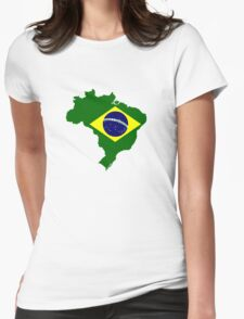 Map of Brazil Womens Fitted T-Shirt