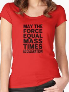 May The Force Equal The Mass Times Acceleration Women's Fitted Scoop T-Shirt