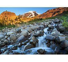 Heliotrope Creek on Heliotrope Ridge, Mount Baker, Washington Photographic Print