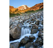 Heliotrope Creek on Heliotrope Ridge, Mount Baker, Washington Photographic Print