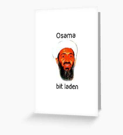 Osama Bit Laden Greeting Card
