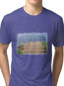 Stairs into a River Tri-blend T-Shirt