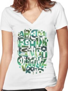 Geotypes Women's Fitted V-Neck T-Shirt