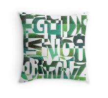 Geotypes Throw Pillow