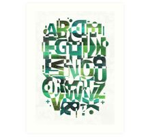 Geotypes Art Print