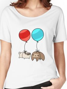 Balloon Sloth and Pug Women's Relaxed Fit T-Shirt