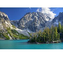 Dragontail Peak over Colchuck Lake, Washington Photographic Print