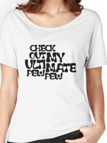 Check Out My Ultimate Black Text Women's Relaxed Fit T-Shirt