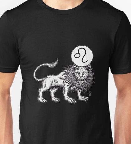 Leo Black/White Unisex T-Shirt