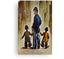 Three Little Tramps Canvas Print