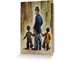 Three Little Tramps Greeting Card