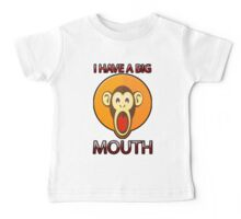 Cute Funny Brown Monkey With Big Open Mouth Meme T-Shirt Baby Tee